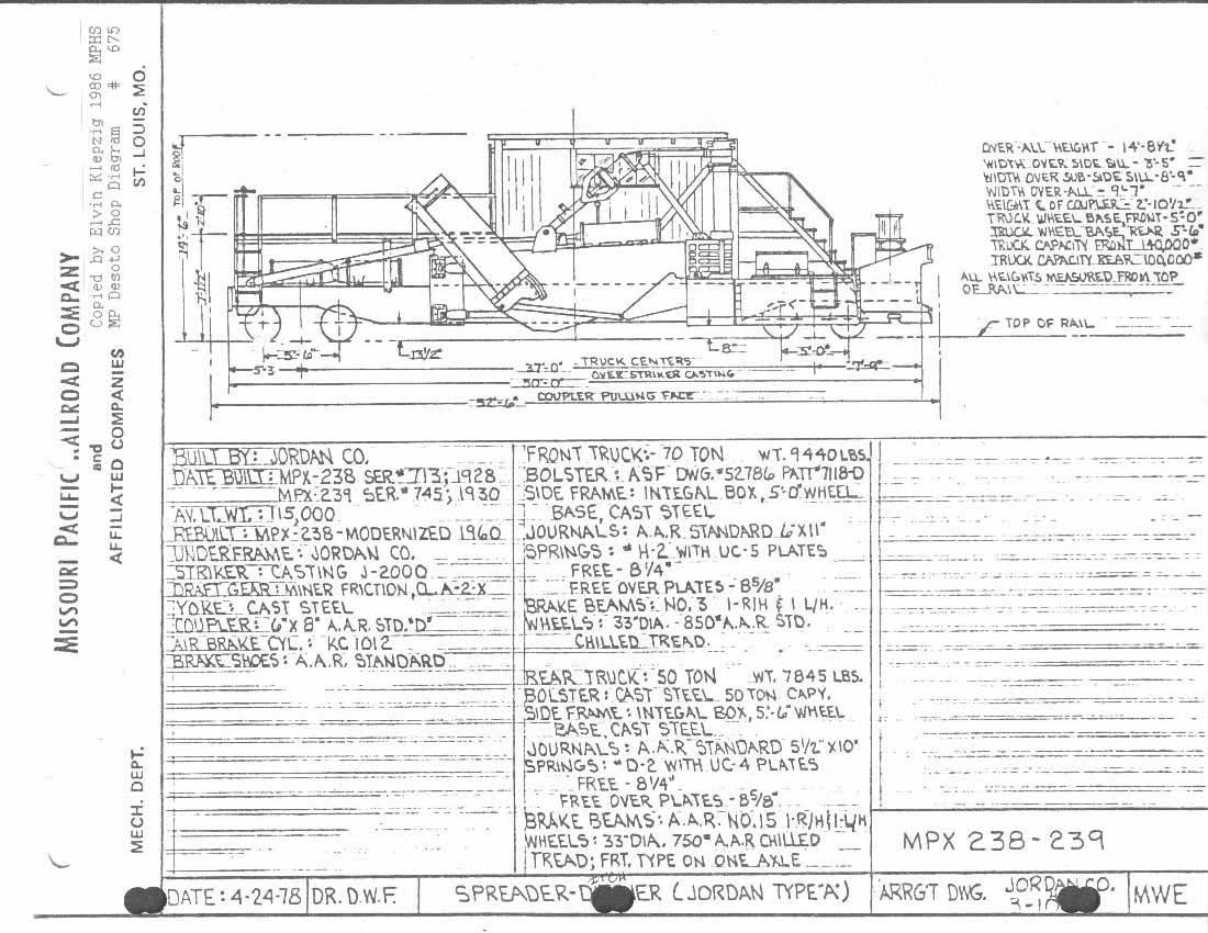 mopac engineering diagrams screaming eagles tissue engineering diagram mp x 238 & 239 the second of two desoto shops spreader diagrams dated 4 24 78 during later rebuilds, the shops added a cab to these cars scan provided
